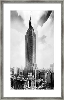 The Empire State Building, New York Framed Print by Everett