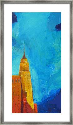 The Empire State Framed Print by Habib Ayat