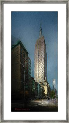 The Empire State Framed Print by Marvin Spates