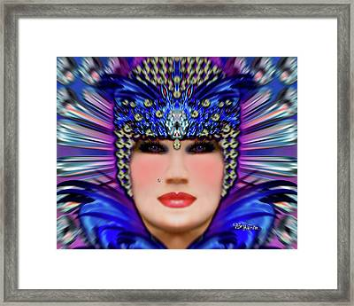 Framed Print featuring the photograph The Empress Barbaka #192 by Barbara Tristan