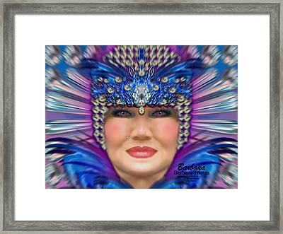 Framed Print featuring the photograph The Empress by Barbara Tristan