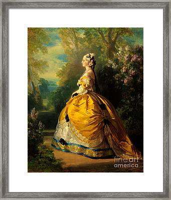 The Empress Eugenie, 1854 Framed Print
