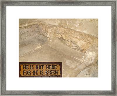 The Empty Tomb Framed Print by Brian Tada