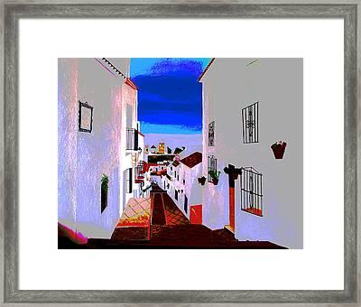 The Enchanted Village Of Mijas Framed Print