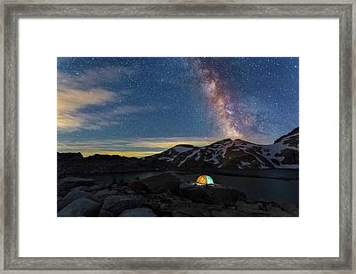 Mountain Trekking Framed Print