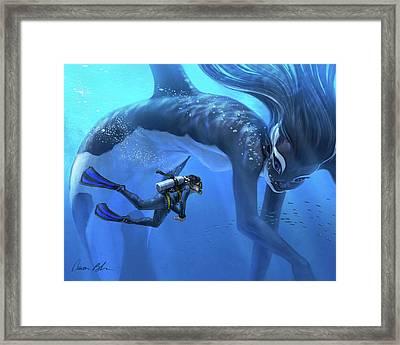 The Encounter Framed Print by Aaron Blaise