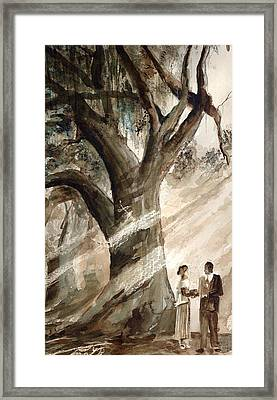 The Encounter Framed Print by Arline Wagner