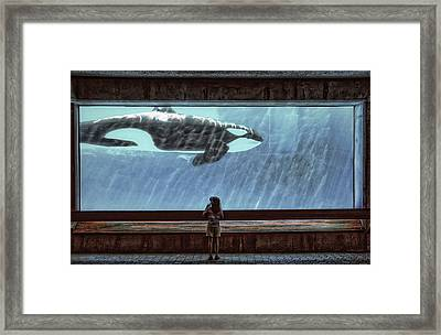 The Encounter Framed Print by Heather  Rivet