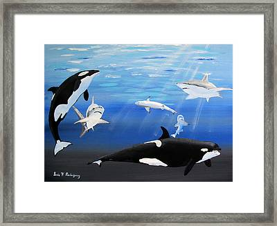 The Encounter Framed Print by Luis F Rodriguez