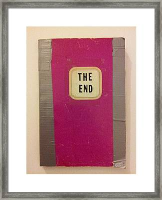 The End Book Framed Print