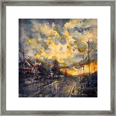 The End Of A Beautiful Day Framed Print by Ylli Haruni