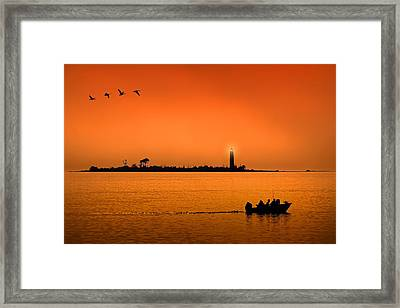 The End Of A Wonderful Day. Framed Print
