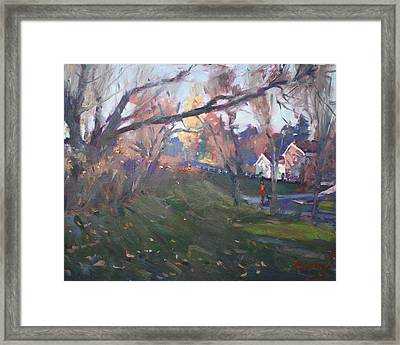 The End Of Autumn Day In Glen Williams On Framed Print by Ylli Haruni