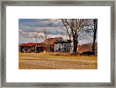 The End Of Days Framed Print by Lois Bryan
