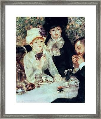 The End Of Luncheon Framed Print by Pierre Auguste Renoir