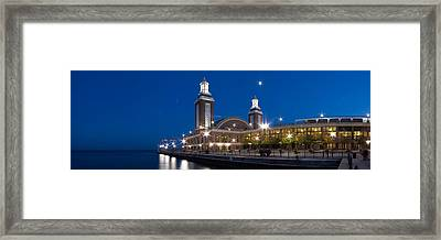 The End Of Navy Pier In Chicago Framed Print