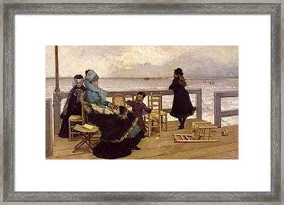 The End Of October Framed Print by Ernest Ange Duez