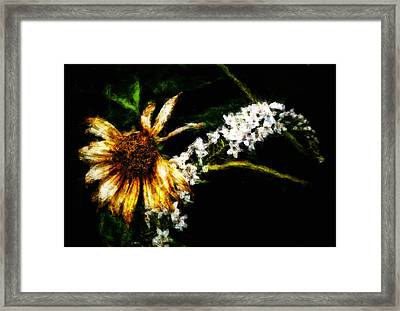Framed Print featuring the digital art The End Of Summer by Cameron Wood
