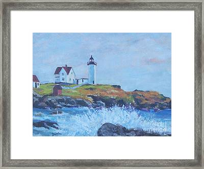 The End Of Summer- Cape Neddick Maine Framed Print by Alicia Drakiotes
