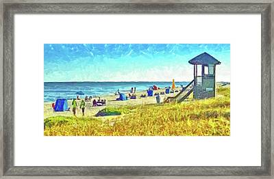 Framed Print featuring the digital art The End Of Summer by Digital Photographic Arts
