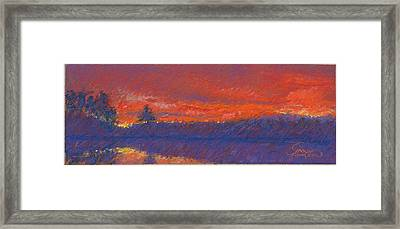 The End Of Sunset Framed Print by Grace Goodson