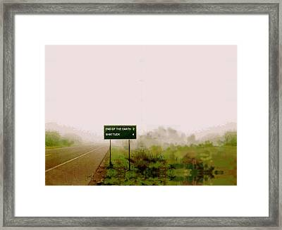 The End Of The Earth Framed Print