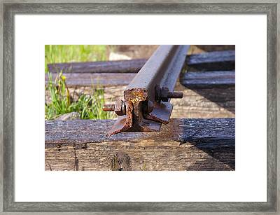 The End Of The Line Framed Print by Cynthia Cox Cottam