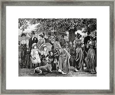 The End Of The London Season The Last Church Parade Of The Year Framed Print by MotionAge Designs