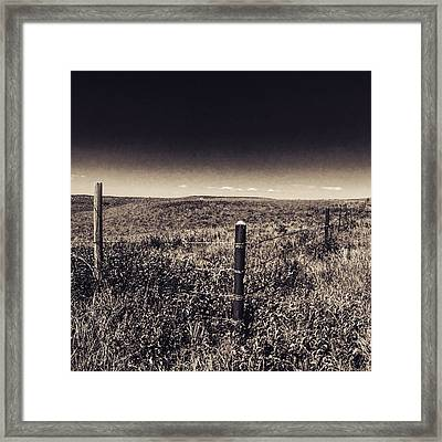 The End Of The Range Framed Print