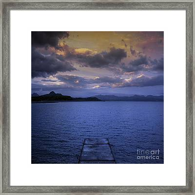 The End Of The Road Framed Print by Angel  Tarantella