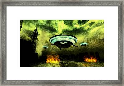 The End Of The World As We Know It Framed Print by Raphael Terra