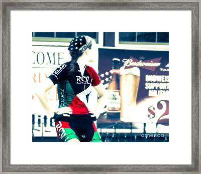 The Endurance Biker Framed Print by Steven Digman