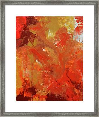 The Energy Of Autumn Framed Print by Tiberiu Soos