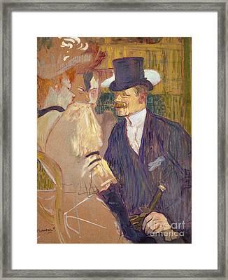 The Englishman  Framed Print by Henri de Toulouse-Lautrec