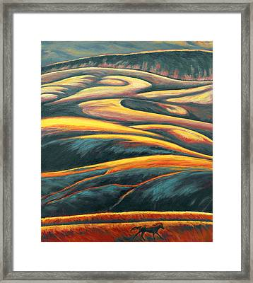 The Enigmatic Hills Framed Print
