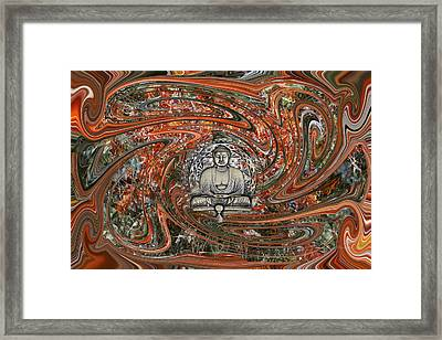Framed Print featuring the digital art The Enlightened One And Nirvana by rd Erickson