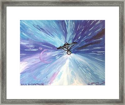 The Enterprise Framed Print by Alana Meyers