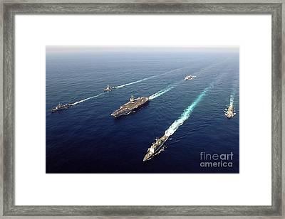 The Enterprise Carrier Strike Group Framed Print