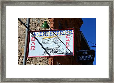 The Enterprise Rico Colorado Framed Print by David Lee Thompson