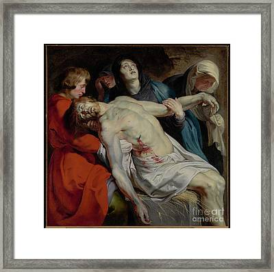 The Entombment By Peter Paul Rubens Framed Print by Esoterica Art Agency
