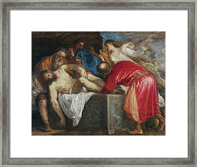The Entombment Of Christ Framed Print by Titian