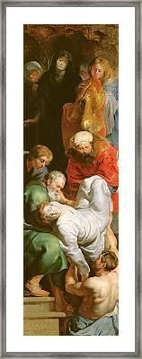 The Entombment Of St Stephen Framed Print