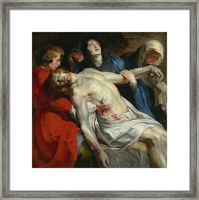 The Entombment  Framed Print by Peter Paul Rubens