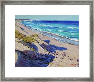 The Entrance Beach Dunes, Australia Framed Print