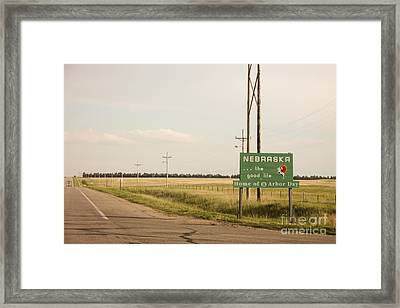 The Entrance Framed Print by Sandy Adams