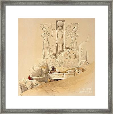 The Entrance To The Great Temple Of Abu Simbel Framed Print by David Roberts