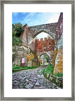 The Entrance To The Monastery Of Escornalbou Framed Print