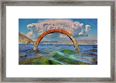 The Entrance To The Realm Of Neptune Framed Print