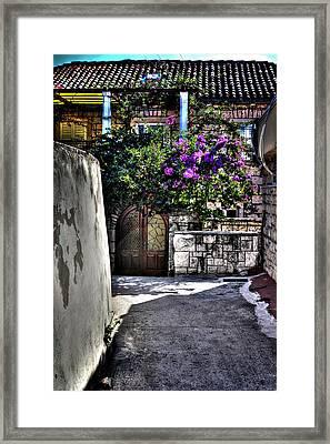 The Entrance Way Corfu Grrece Framed Print by Tom Prendergast