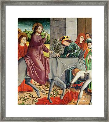 The Entry Of Christ Into Jerusalem, From The Altarpiece Of St. Stephen Framed Print by Michael Pacher
